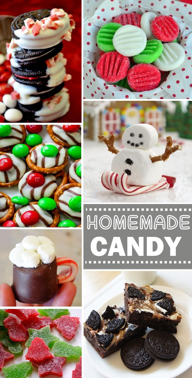 Easy Christmas Candy Recipes For Gifts  Homemade Candy Treats