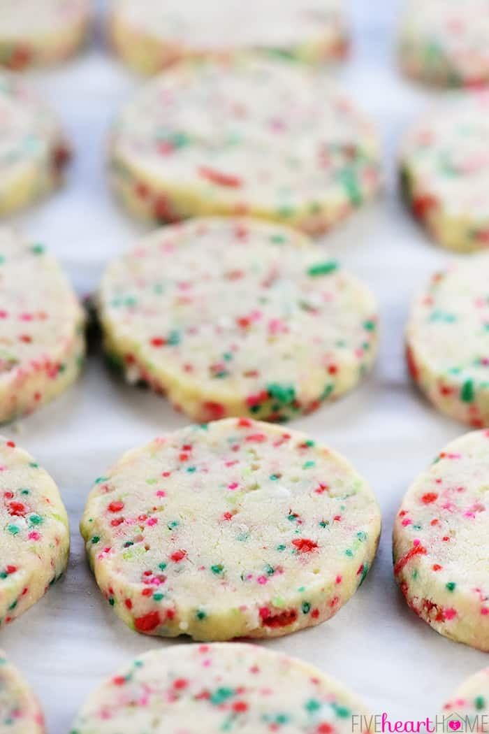 Easy Christmas Cookies Recipe  Easy Christmas Shortbread Cookies • FIVEheartHOME