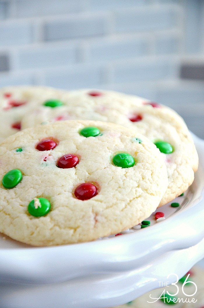 Easy Christmas Cookies Recipe  Christmas Cookies Funfetti Cookies The 36th AVENUE