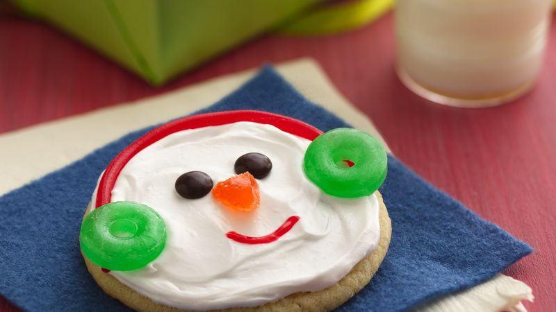 Easy Christmas Cookies To Make With Toddlers  Easy Snowman Cookies Recipe BettyCrocker