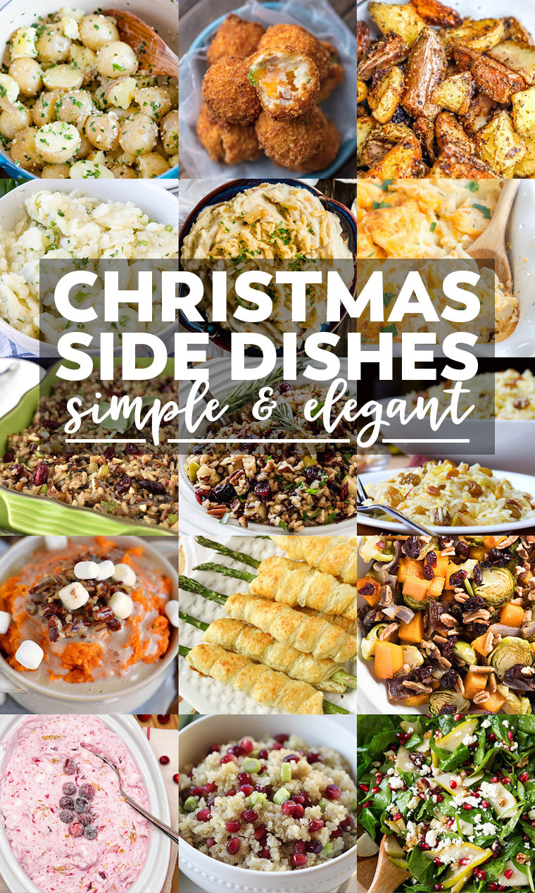 Easy Christmas Dinner Side Dishes  35 Side Dishes for Christmas Dinner Yellow Bliss Road