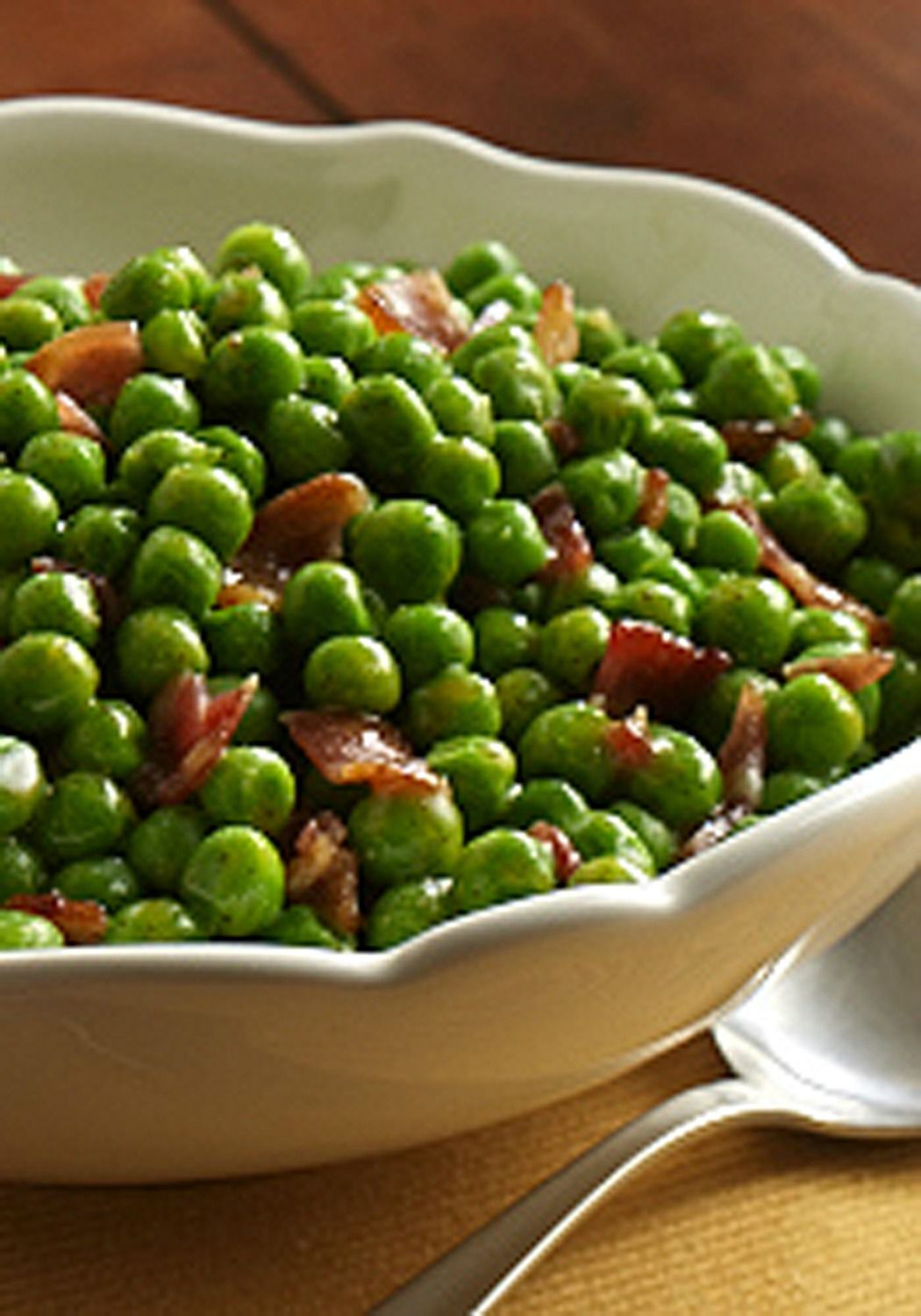Easy Christmas Dinner Side Dishes  Check out Peas with Bacon It s so easy to make