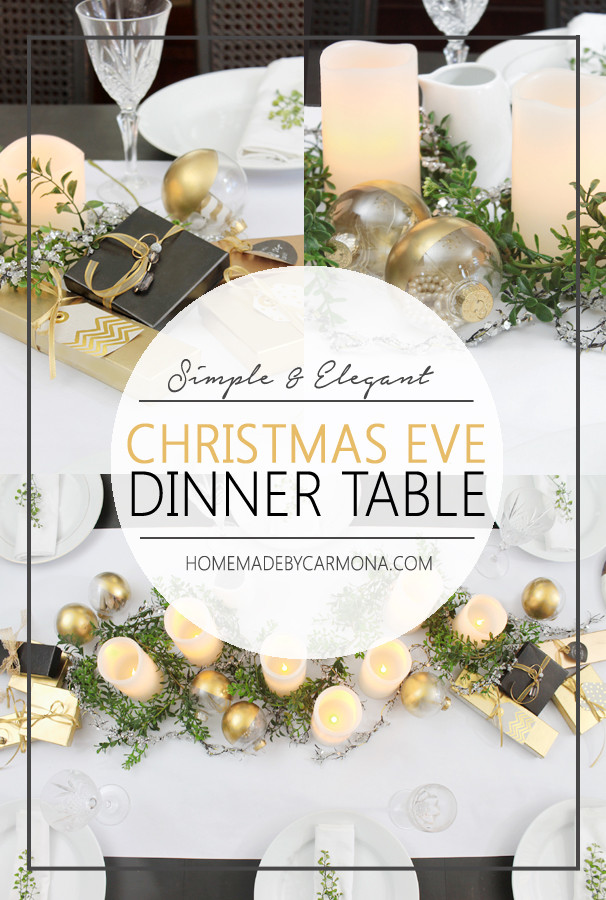 Easy Christmas Eve Dinners  Christmas Eve Dinner Table Home Made By Carmona