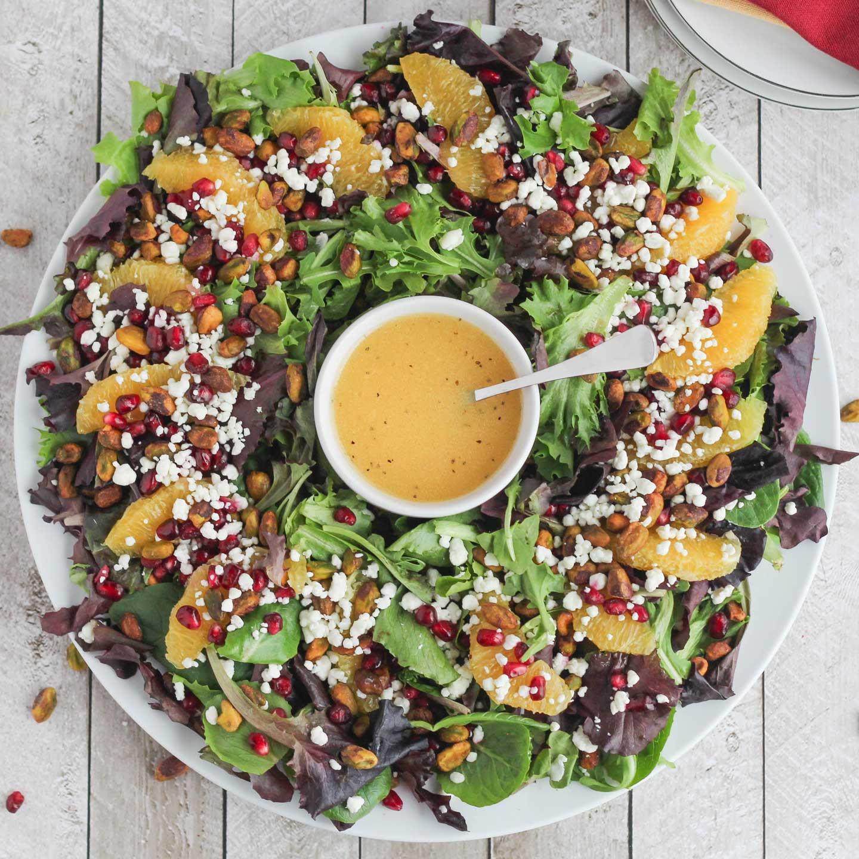 Easy Christmas Salads  Christmas Salad with Citrus Champagne Vinaigrette Two