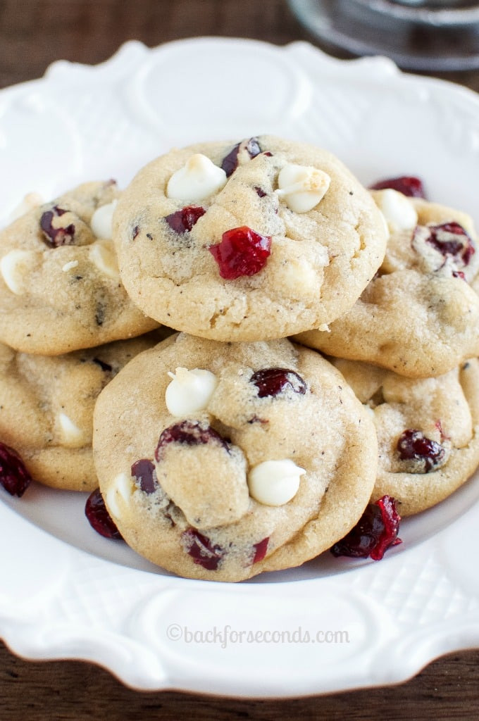 Easy Delicious Christmas Cookies  Best White Chocolate Cranberry Cookies Back for Seconds