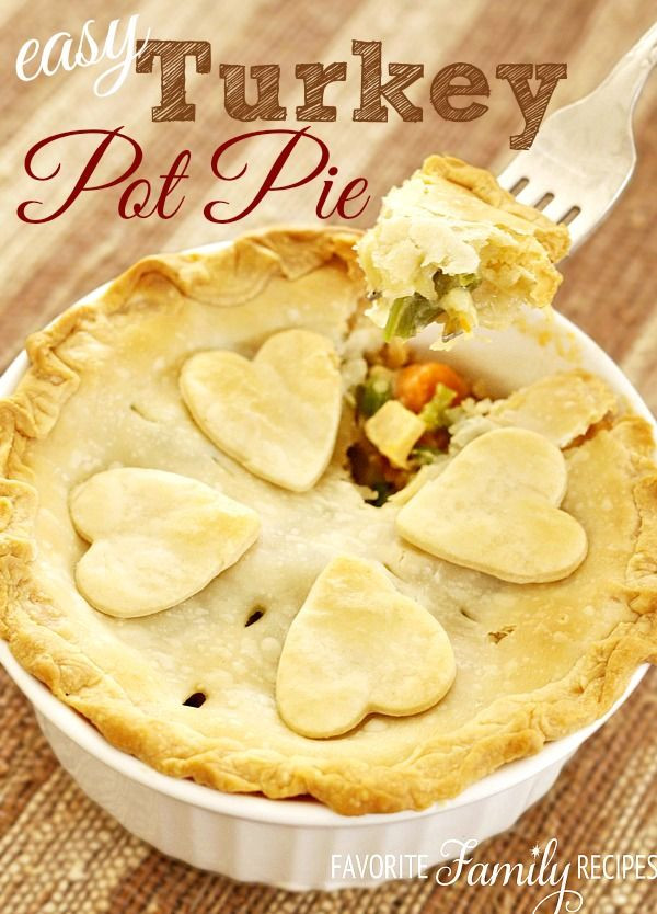 Easy Thanksgiving Pie Recipes  Easy Turkey Pot Pie Recipe