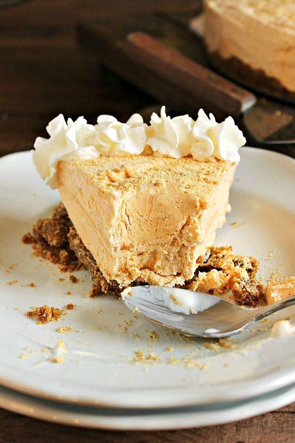 Easy Thanksgiving Pie Recipes  Frozen Pumpkin Pie Cheesecake Chelsea s Messy Apron
