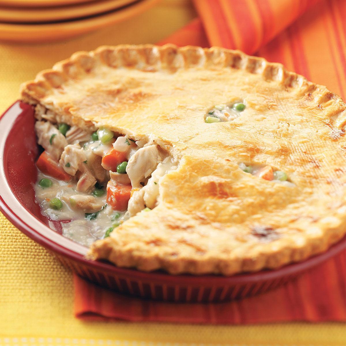 Easy Thanksgiving Pie Recipes  Turkey Potpies Recipe