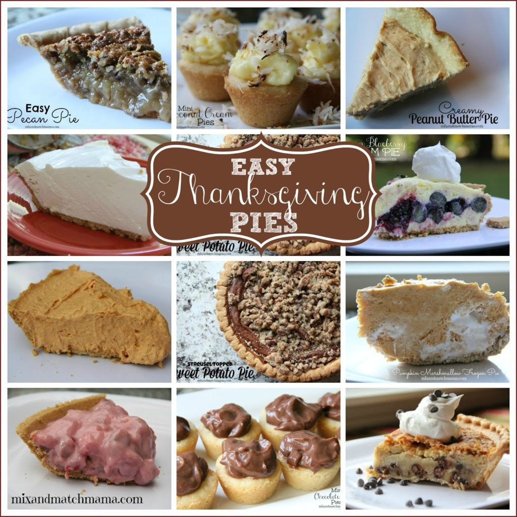 Easy Thanksgiving Pies  Easy Thanksgiving Pies