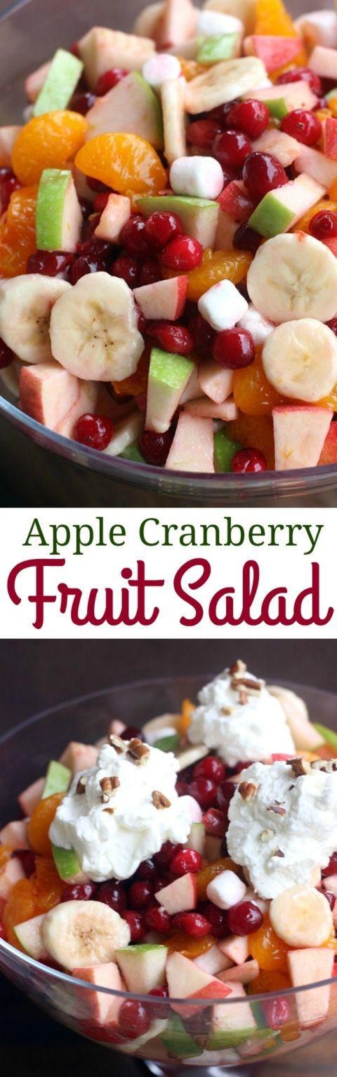 Easy Thanksgiving Salads  Apple Cranberry Fruit Salad