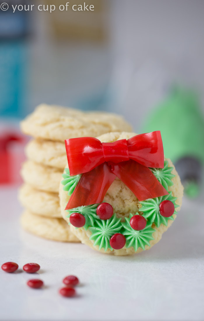 Easy To Make Christmas Cookies  Easy Christmas Wreath Cookies Your Cup of Cake