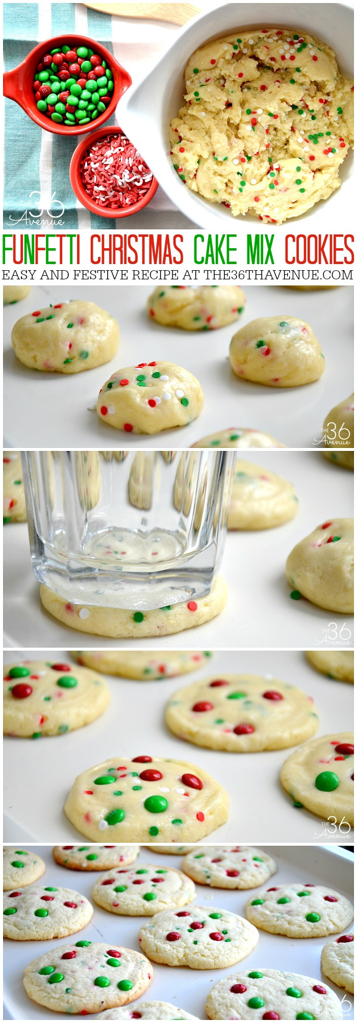 Easy To Make Christmas Cookies  Christmas Cookies Funfetti Cookies The 36th AVENUE