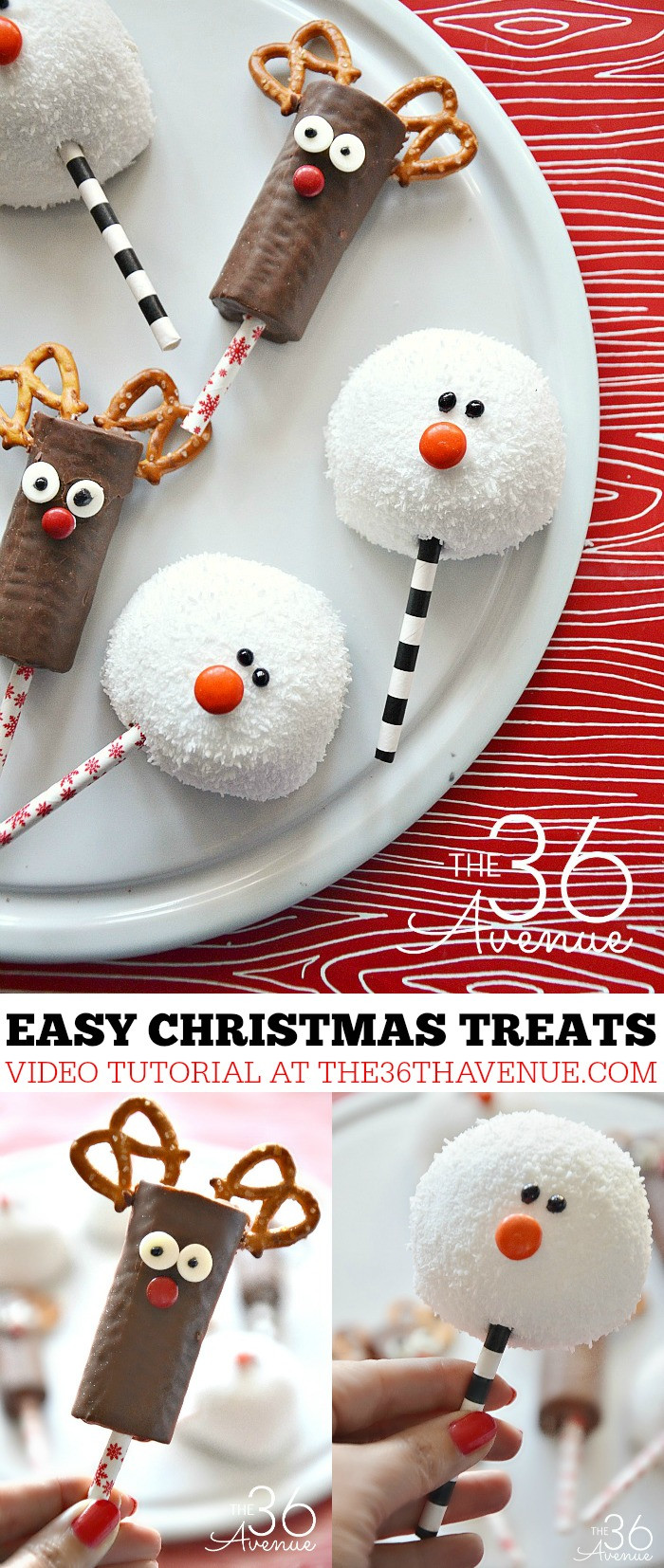 Easy To Make Christmas Desserts  Christmas Treats Reindeer and Snowman The 36th AVENUE