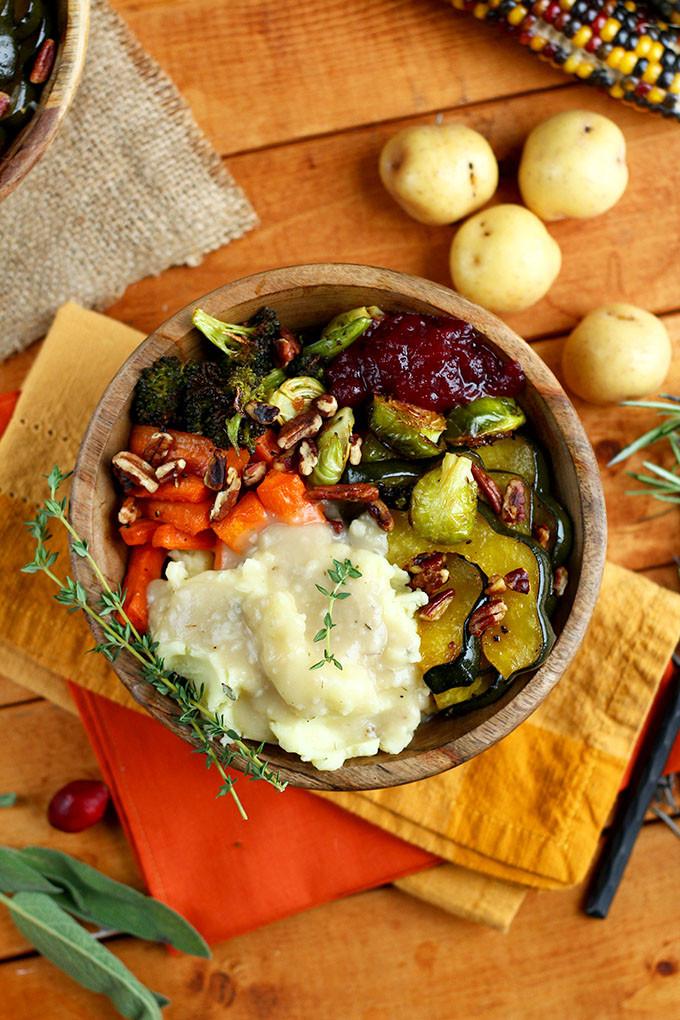 Easy Vegan Thanksgiving Recipes  Roasted Vegan Thanksgiving Bowl I LOVE VEGAN