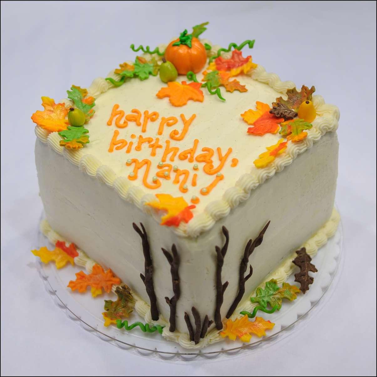 Fall Birthday Cake  Autumn Themed Cake