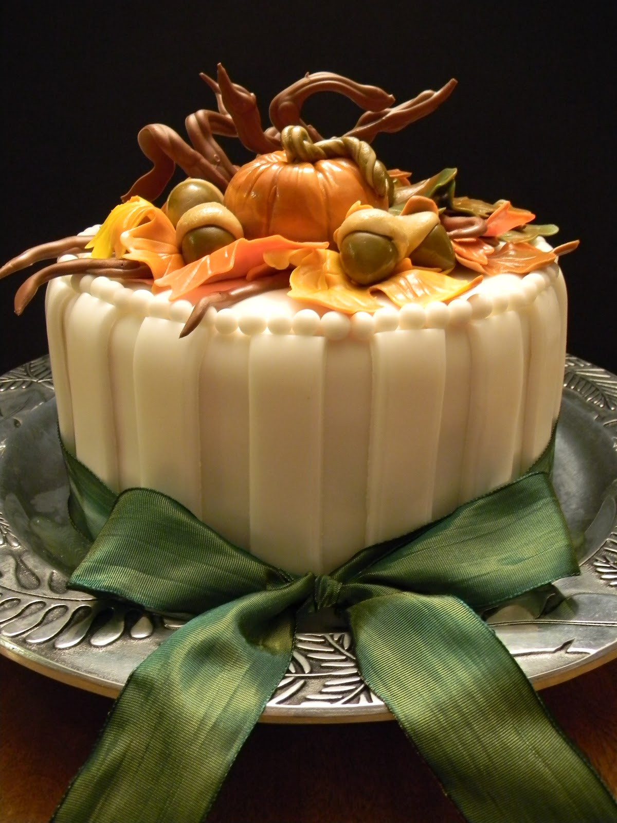 Fall Birthday Cake  Couture Cakes by Angela Wel e Fall