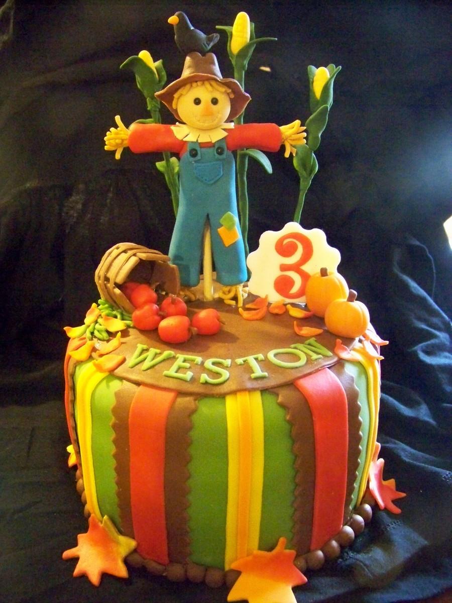 Fall Birthday Cake  Fall Themed Birthday Cake CakeCentral