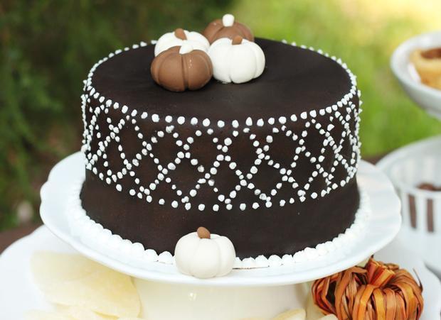 Fall Birthday Cake  Pumpkin Shaped Cake Fall Birthday Party Autumn Cake