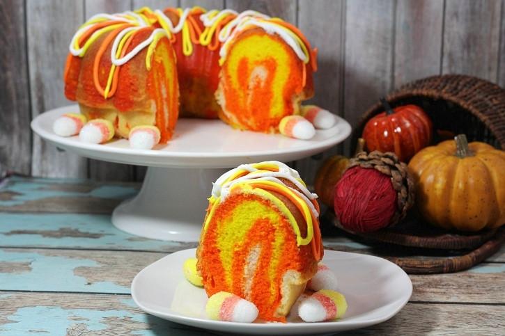 Fall Bundt Cake Recipes  Candy Corn Bundt Cake Recipe A Fun Easy Fall Dessert