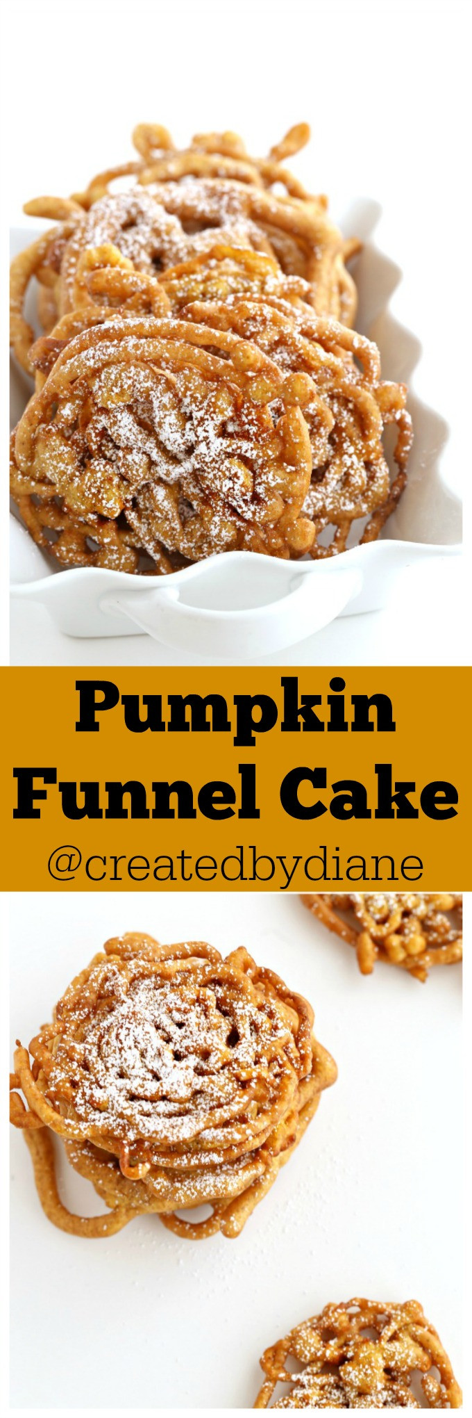 Fall Desserts 2019  Pumpkin Funnel Cake A fall dessert idea