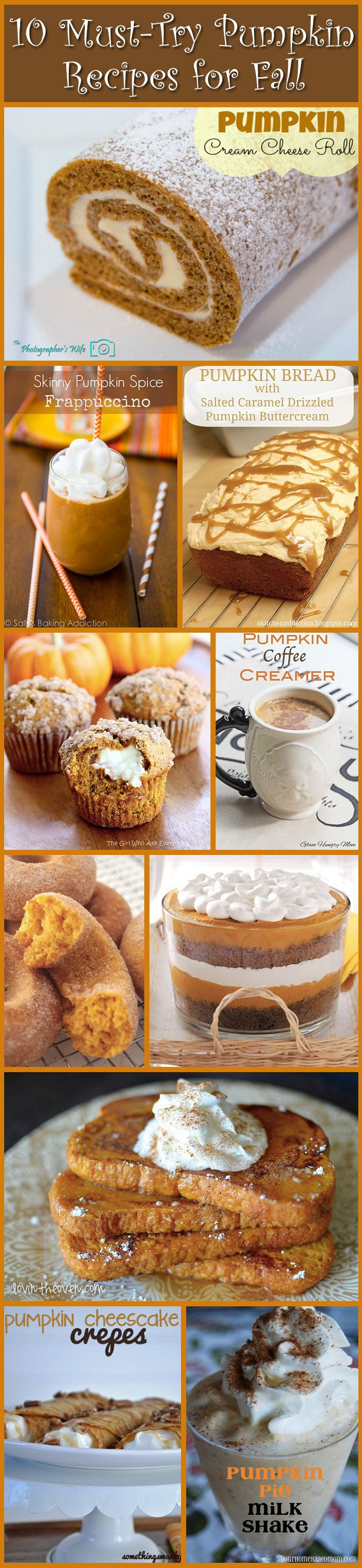 Fall Desserts 2019  10 MUST TRY pumpkin recipes for Fall