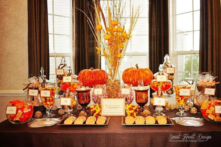 Fall Desserts 2019  autumn candy buffet fall themed candy buffet