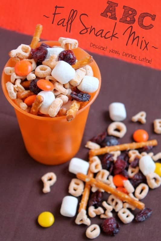 Fall Desserts For Kids  ABC Fall Snack Mix Dessert Now Dinner Later
