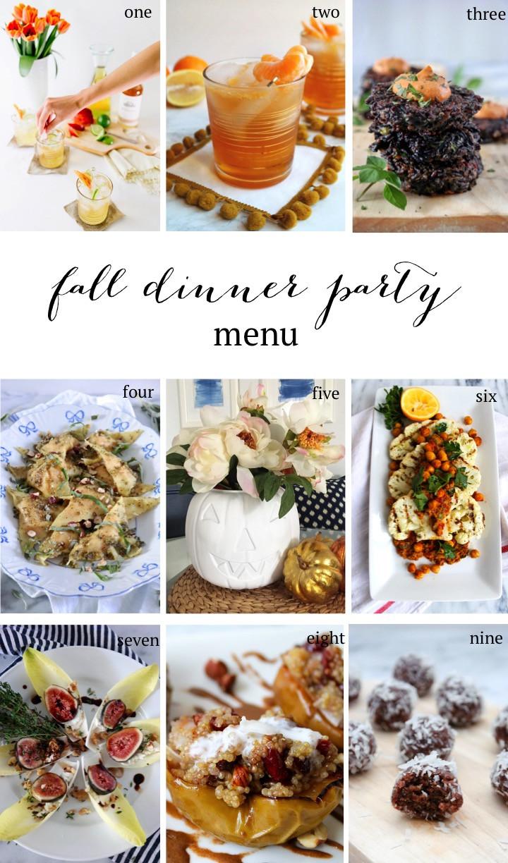 Fall Dinner Party Menu  Fall Dinner Party Menu Sequins at Breakfast