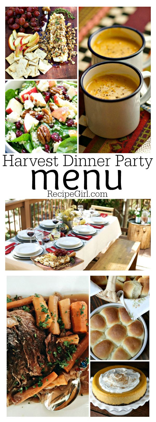 Fall Dinner Party Menu  Harvest Dinner Party Menu plete menu with recipes and