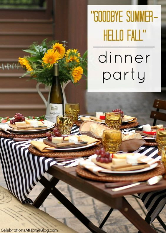 Fall Dinner Party Menu  1000 ideas about Themed Dinner Parties on Pinterest