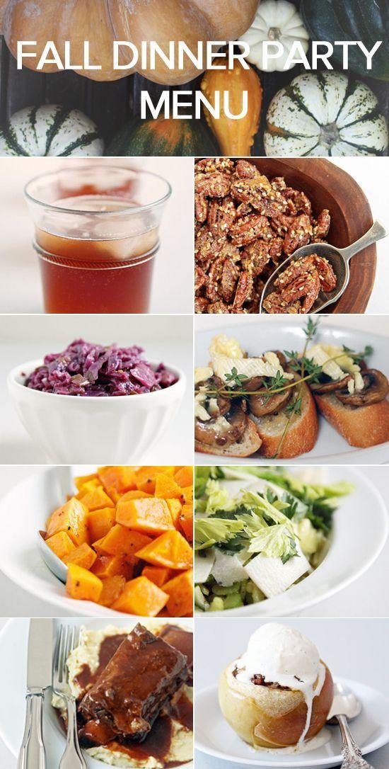 Fall Dinner Party Menu  1000 ideas about Fall Dinner Parties on Pinterest