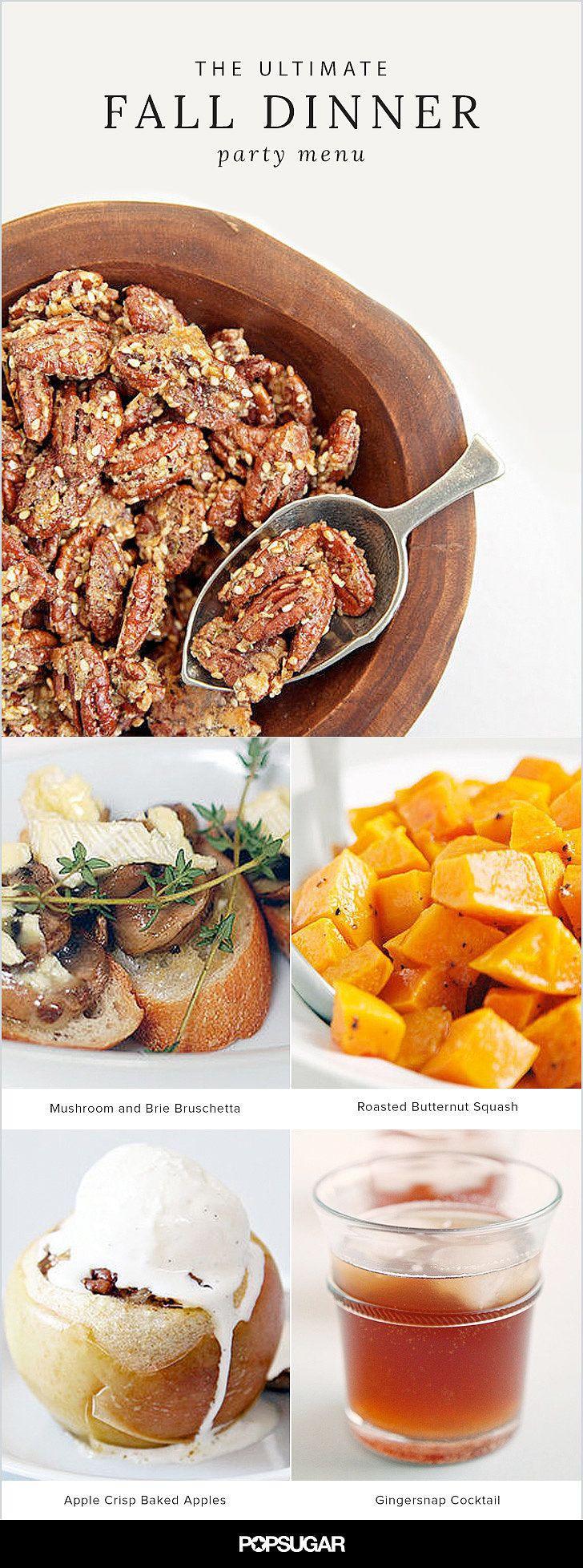 Fall Dinner Party Menu  Best 10 Wedding dinner menu ideas on Pinterest