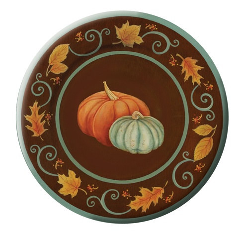 Fall Dinner Plates  Autumn Scroll Dinner Plates 8 pkg PartyCheap