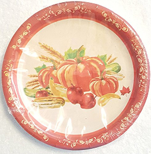 Fall Dinner Plates  Thanksgiving Fall Autumn Harvest Pumpkin Party Packages
