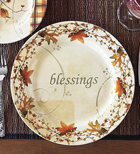 Fall Dinner Plates  Amazon Wind & Weather Autumn Dinner Plate Kitchen