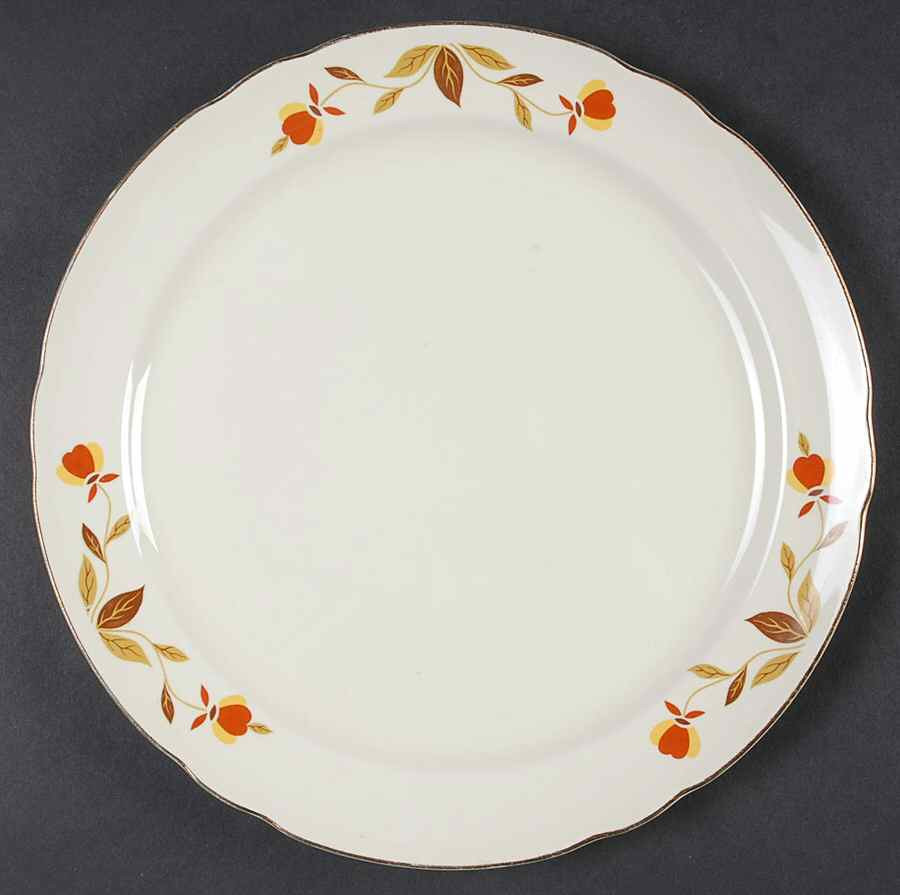 Fall Dinner Plates  Hall AUTUMN LEAF Dinner Plate S G2