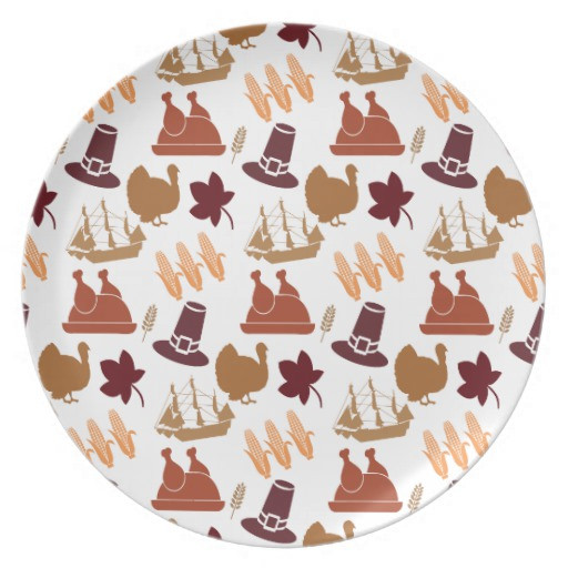 Fall Dinner Plates  Thanksgiving Fall Autumn Harvest Pattern Dinner Plates