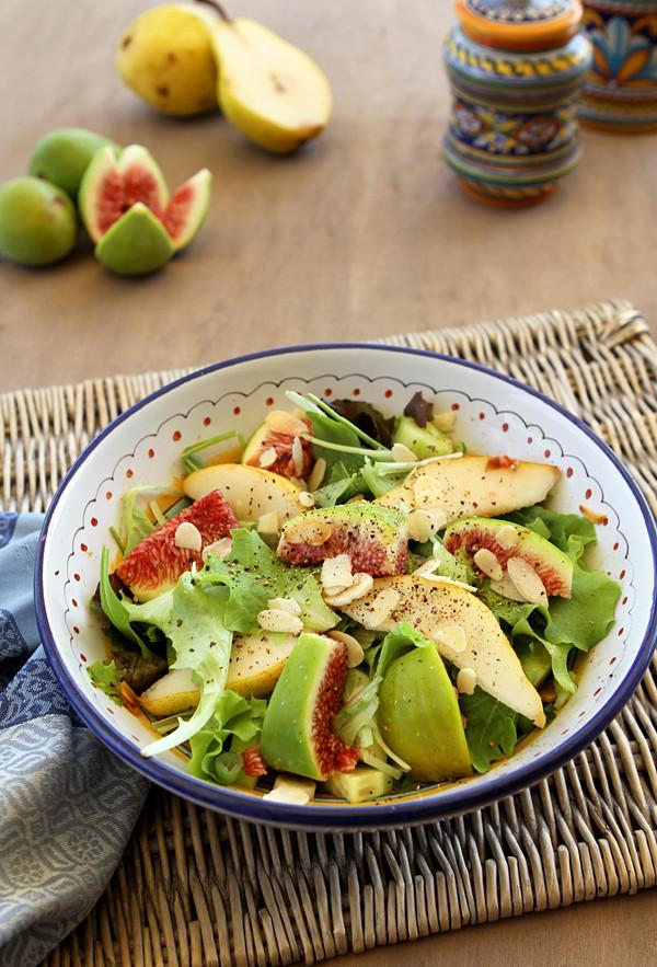 Fall Italian Recipes  Fall Fig & Pear Salad with Toasted Almonds