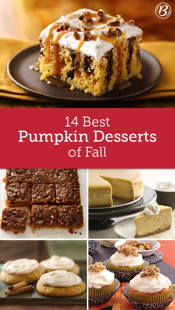 Fall Pumpkin Desserts  17 Best images about Fall Baking on Pinterest