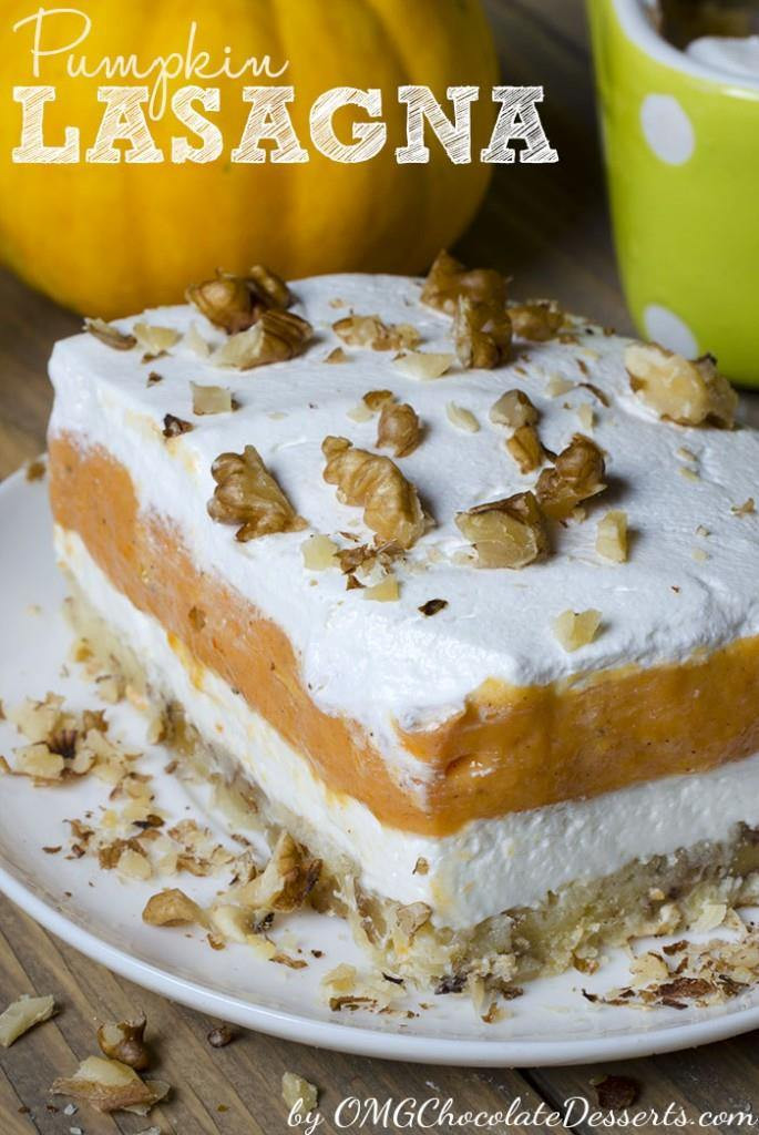 Fall Pumpkin Desserts  Pumpkin Lasagna