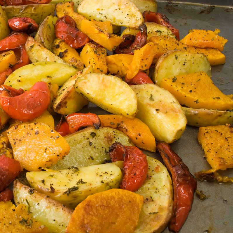 Fall Roasted Vegetables  Roasted Fall Ve able Salad with Warm Goat Cheese & Honey