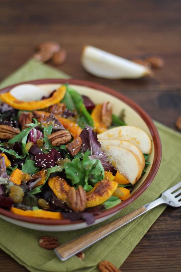 Fall Roasted Vegetables  Roasted Fall Ve ables Salad with Maple Orange Cinnamon