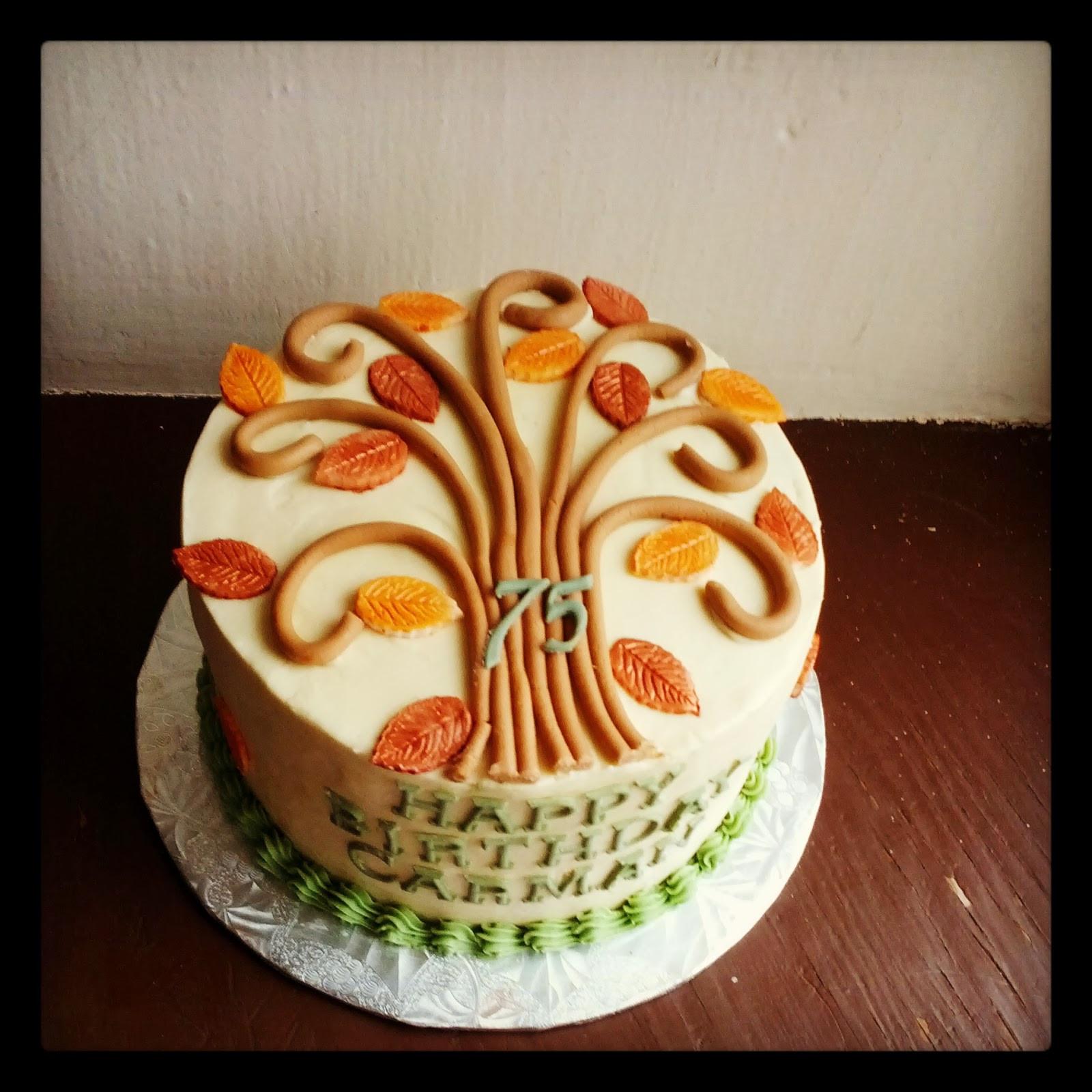 Fall Themed Birthday Cake  Second Generation Cake Design Fall Themed Birthday Cake
