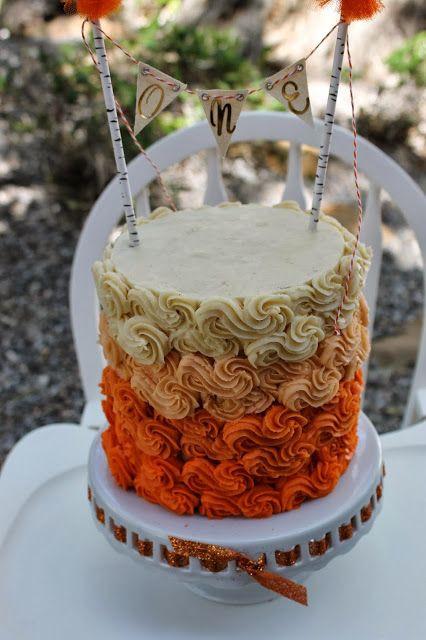 Fall Themed Birthday Cake  Fall themed first birthday cake