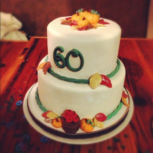 Fall Themed Birthday Cake  Cakes by Becky Autumn Themed Birthday