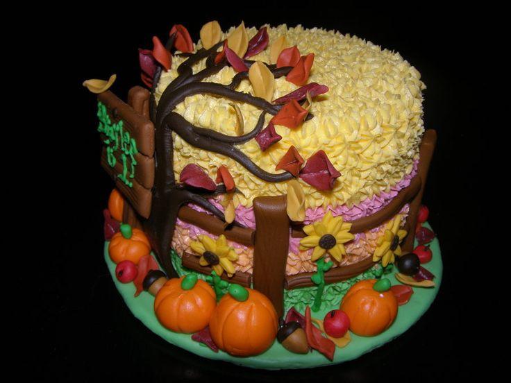 Fall Themed Birthday Cake  Best 25 Fall theme cakes ideas on Pinterest