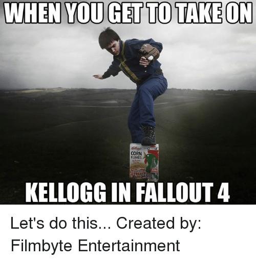 Fallout 4 Corn  WHEN YOU GET TO TAKE ON CORN FLAKES KELLOGG IN FALLOUT 4