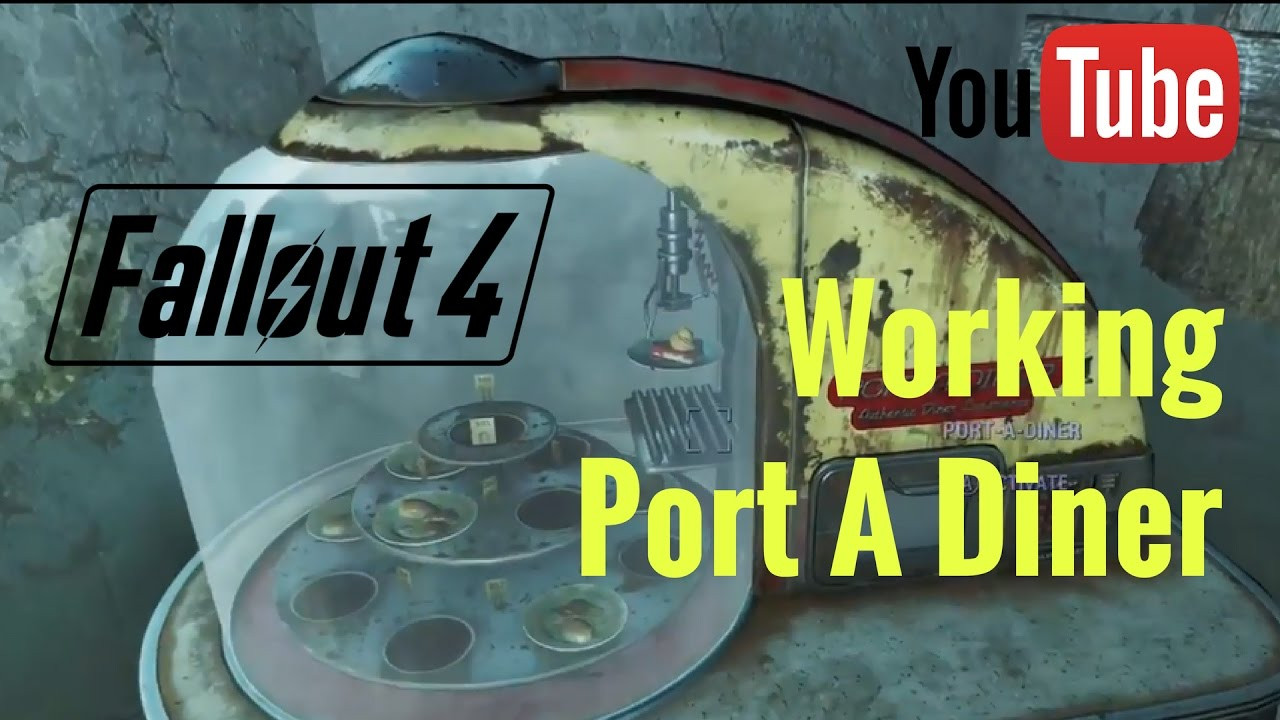 Fallout 4 Mean Pastries  Fallout 4 Working Port A Diner in Mean Pastries