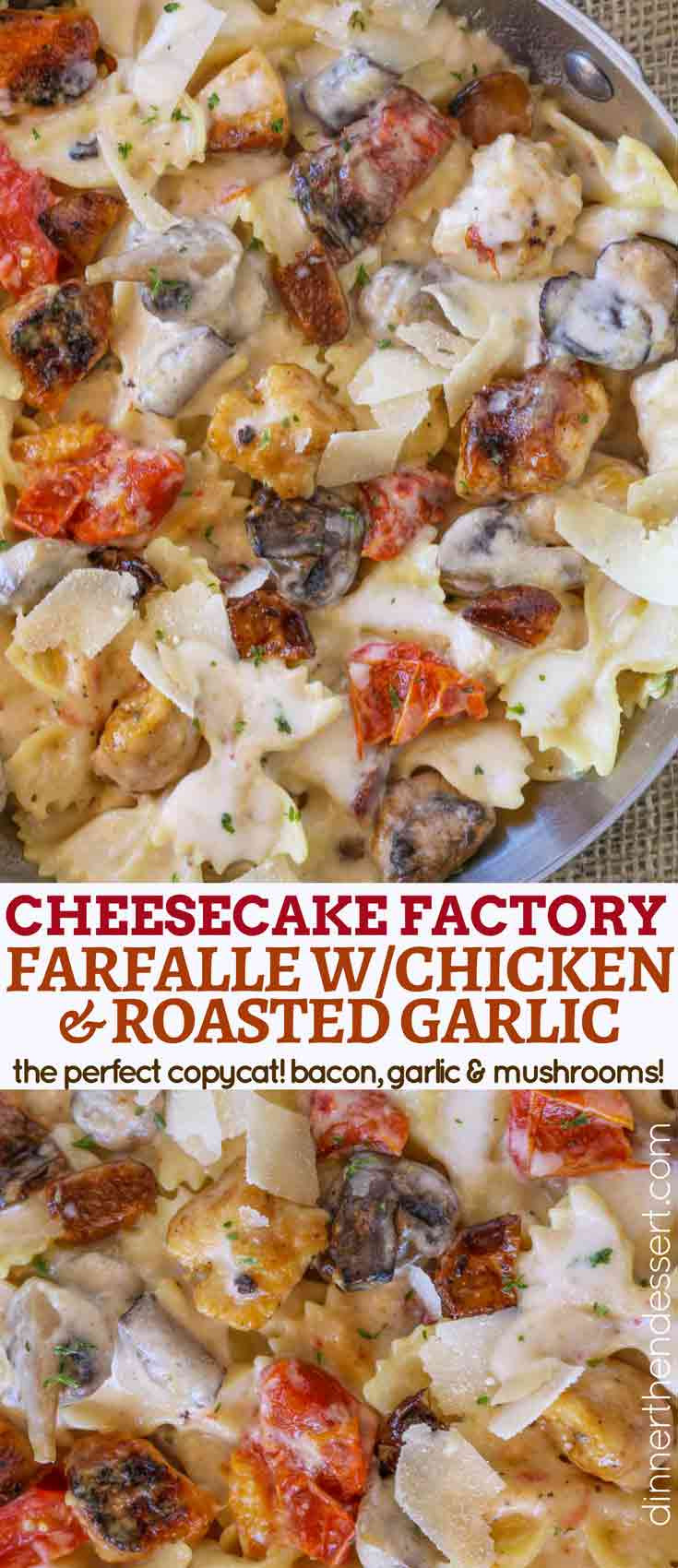 Farfalle With Chicken And Roasted Garlic  The Cheesecake Factory Farfalle with Chicken and Roasted