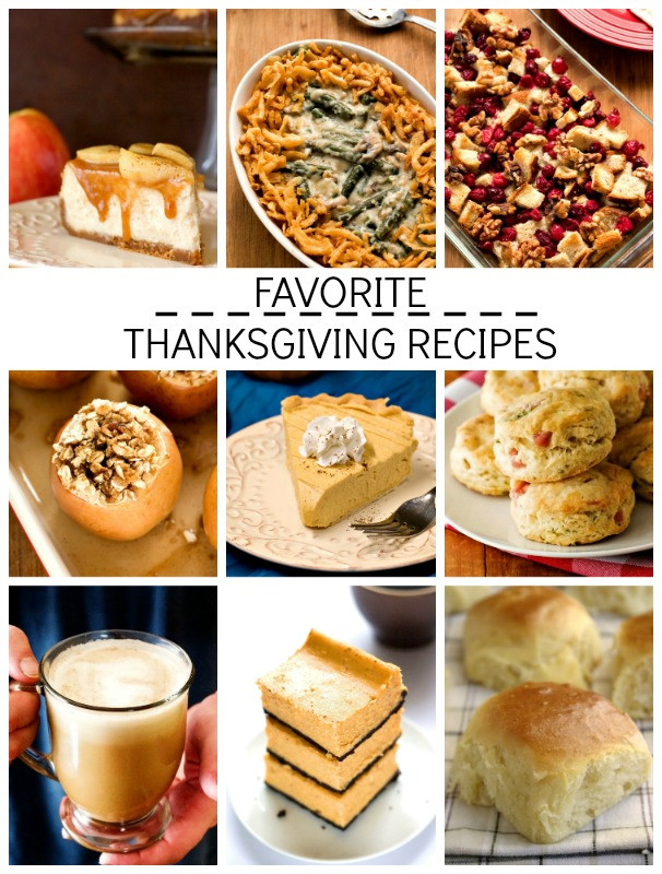 Favorite Thanksgiving Desserts  Favorite Thanksgiving Recipes Round Up Crunchy Creamy Sweet